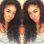 Curly Human Hair Lace Front Wigs 130% Density Brazilian Deep Curly Wig with Baby for Black Women