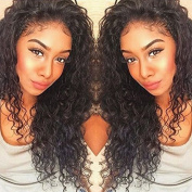 Curly Human Hair Lace Front Wigs 150% Density Brazilian Deep Curly Wig with Baby for Black Women 50cm