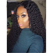 360 Lace Wigs 180% Density Kinky Curly Glueless Full Lace Human Hair Wigs for Black Women with Baby Hair Natural Black Colour 360 Lace Frontal Wigs