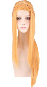 OYSRONG Women Long Straight Golden Colour Anime Priscilla Bariel Character Costume Cosplay Lace Cap Wig