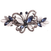 Fashion Girls Women Crystal Butterfly Hair Clips Hairpins