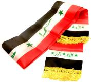 Printed Unisex Iraq Flag Scarf Arabian Shemagh Shawal Desert Tactical Fashion Wrap Iraqi Keffieh Hatta