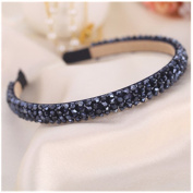 Casualfashion Sparkle 4 Rows Crystal Rhinestone Headbands Beaded Hair Hoop Band