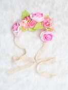 Festival Boho Hippy Hair Head Band/ Rose Crown/Bohemian style