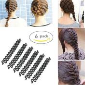 AnHua® 6PCS Fashion French Hair Styling Clip Stick Bun Maker Braid Tool Hair Accessories Twist Plait Hair Braiding Tool