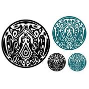 Yeeech Temporary Tattoos Sticker Taylor Lautner Mysterious Circle Designs Black Blue Designs in Movie Twilight