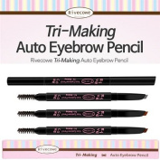 Rivecowe Tri Making Auto Eyebrow Penil 02 Deep Brown