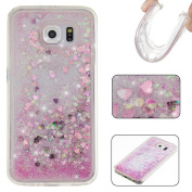 UCLL  for Samsung  Galaxy S7 Case ,Lovely Bear Design Galaxy S7 Solf Liquid Bling Glitter Case, Galaxy S7 Ultra Slim Luxury Case with a free Screen Protector