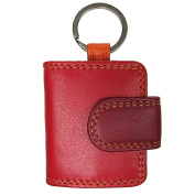 Vitali Coral Multi Colour Real Leather Key Ring CL60