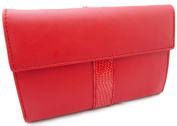 100% Genuine Leather High Quality Luxury Purse / Wallet for Women, Handmade in Spain , Silky Red