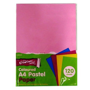 A4 Pastel Coloured Paper - 120 Sheets - Mixed Colours, by Crafty Creations