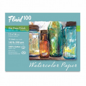 Fluid 100 Watercolour Hp 60kg Pochette 11X14