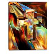 "Designart PT6046-80cm - 100cm Light of The Cross"" Canvas Artwork, Yellow, 80cm x 100cm"