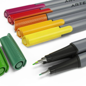 Arteza Fineliner Pens - 48-Colours - 0.4mm Line - Metal-Clad Encased Tips -