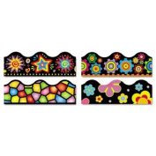 Trend Terrific Trimmer Variety Pack - Brights on Black - 2.3quot; x 48m - Assorted
