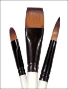 Simply Simmons Oil and Acrylic Brush Bristle Filbert LH 4
