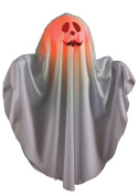 Colour Changing Squiggle Face Smiling Ghost Halloween Hanging Decoration
