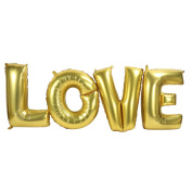 "Letter Balloon Set,Large Letters ""LOVE"" Aluminium Foil Balloons For Wedding Party Decoration"