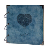 FaCraft Scrapbook Album Heart Printed,Vintage photo allbum with Elegant Appearance as Ideal Gifts for Wedding Guestbook,Valentines,Travel Book,Graduation Recording
