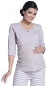 Zeta Ville - Women's Maternity Breastfeeding Soft Pyjamas Stripes Pattern - 394c