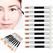 Makeup Brush,Baomabao 10Pcs Makeup Double-end Eye Shadow Eyeliner Brush Tool