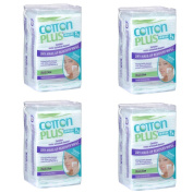 Cotton Plus 2in1 Aloe Maxi Makeup Remover Cleansing Wipes 50 Counts Pack of 4