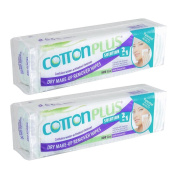 Cotton Plus 2in1 Aloe Mini Makeup Remover Cleansing Wipes 80 Counts Pack of 2