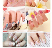 All Differnt 50 Sheets Nail Stickers Mixed Floral Design Patterns Decals Black/White/Colourful 3D Nail Art Decorations