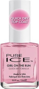 Pure Ice Nail Polish Top Coat - Girl On The Run - Quick Dry Formula - 15ml