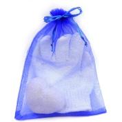 Exfoliating Gloves and Konjac Sponge set -Hammam Exfoliating Glove Premium -Konjac Sponge All Natural Korean Facial Sponge -Blue