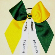 Custom Mascot Large Flip Bow, Made in the USA, Pick your Mascot & Colours, Black Pony Band
