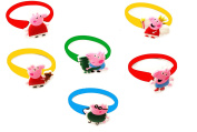 AVIRGO 6 pcs Colourful Releasable Ponytail Holder Elastic Rubber Stretchable No-slip Hair Tie Set # 85-7