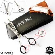 Professional Hairdressing Thinning Scissors 14cm Mirror Shears Extra Sharp Razor Edge, Hair Cutting Scissors + Case