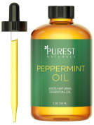 Purest Naturals Peppermint Essential Oil - 100% Pure & Natural Therapeutic Grade - Best Aromatherapy Oil For Diffuser - 30mL 1 Oz