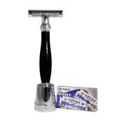 The Konig Double edge safty razor Razor by Luxury Barber best wet shaving starter kit gift set for men