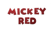 Red Metallic Glitter HandCut Chipboard Uppercase Letters Alphabet set Sickers 3.8cm Mickey Font