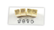 Rubber Stamp set-Lovely Cup Cake stamp 4set