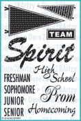 Dare 2B Artzy School Spirit (11010) Clear Cling Rubber Stamp Set