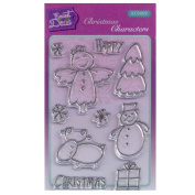 Sweet Dixie A6 Clear Stamp Set - SDCSA6091 Christmas Characters