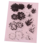 Flower Style Clear Stamp DIY Silicone Seals for Scrapbooking/Card Making/Photo Album