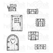 Heartfelt Creations Wildwood Cottage Cling Stamp Set HCPC-3771
