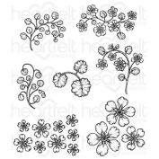 Heartfelt Creations Wildwood Florals Cling Stamp Set HCPC-3769