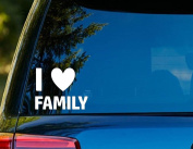 T1219 I Love Family Decal - 10cm x 10cm - Easy to Apply - Instructions Included - Premium 6+ year vinyl