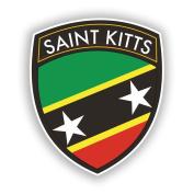 2 x 20cm/200mm Saint Kitts Flag Design Vinyl Stickers Travel Luggage #10661