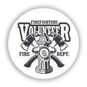2 x 20cm/200mm Volunteer Firefighters Vinyl Stickers Travel Luggage #10759
