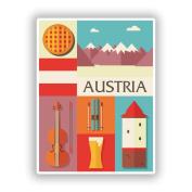 2 x 30cm/300mm Austria Design Vinyl Stickers Travel Luggage #10770