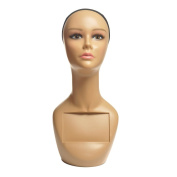 L7 mannequin 46cm Female Life size Mannequin Head Display for Wigs, Hats, Sunglasses A1