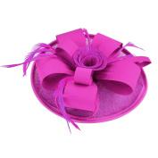 Fascigirl Fascinator Feathers Hat Flower Hair Clip Headdress for Women Girls Wedding Party