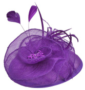 Fascigirl Fascinator Feather Beads Hair Clip Hat Cocktail Party Wedding Hair Accessories