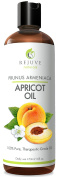 Cold Pressed Apricot Oil, 470ml – Pure, All Natural, Therapeutic Carrier Oil and Moisturiser for Massage and Skin, Hair & Nails – Food Grade, Gluten, Pesticide & GMO Free by RejuveNaturals